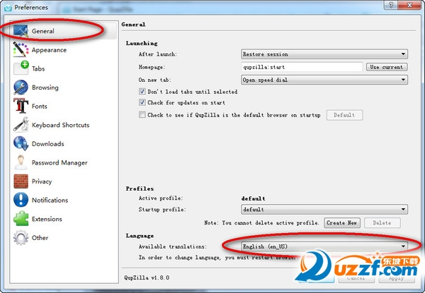 QupZilla浏览器截图0
