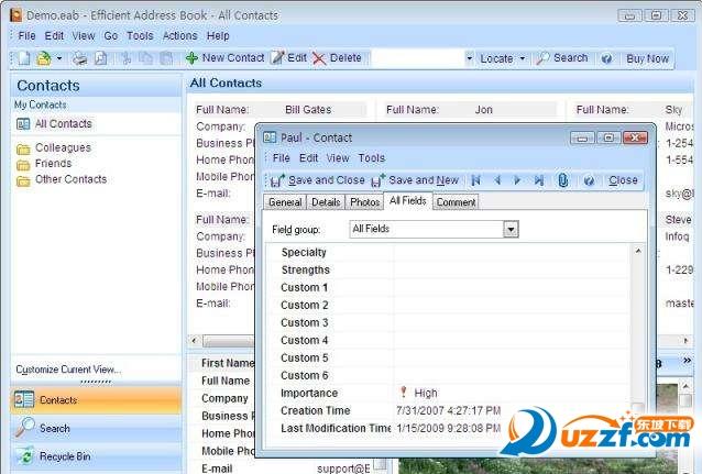 效能通讯录管理工具(Efficient Address Book )截图0