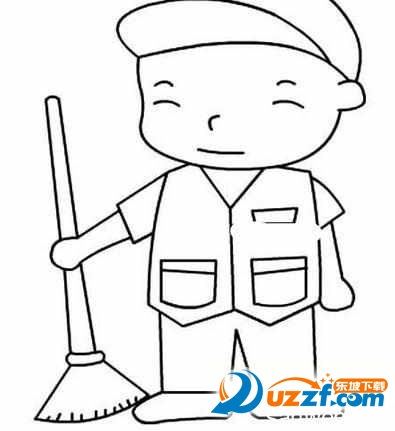 教育素材 素材下载 → 五一劳动节简笔画图片大全 精美版  五一劳动节