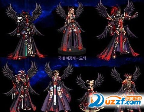 格斗家 魔法师 圣职者 女枪手 暗夜使者(国服自制) 最常见的天空套