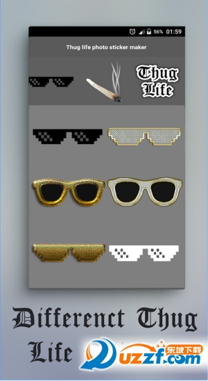 戴墨镜叼烟特效app截图图片