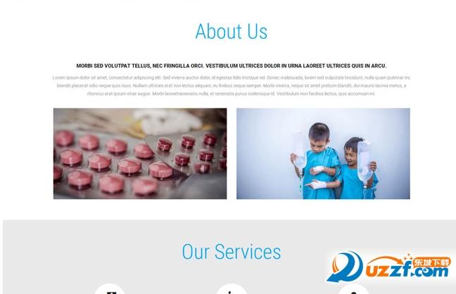 药品公司官网网站模板截图0