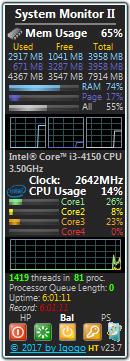 系统监视桌面小工具(system monitor ii)截图0