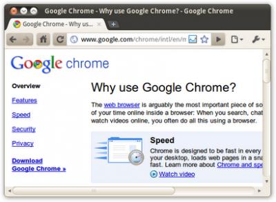 Chromium浏览器截图1