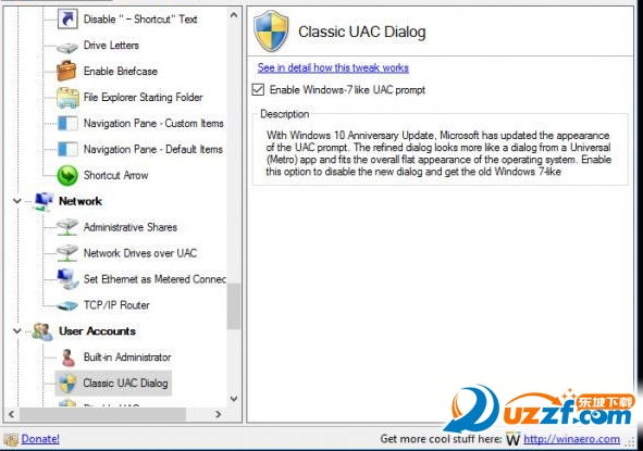 Winaero Tweaker(Windows外观和性能设置)截图0