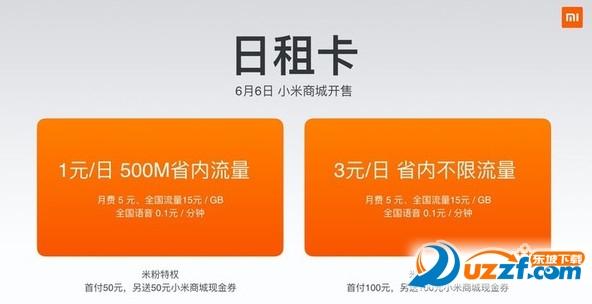 小米日租卡办理地址(一元500M,3元/天)截图0