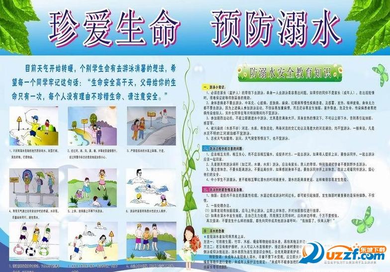 2017防溺水安全教育主题班会ppt截图0