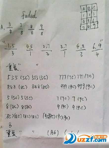 faded萨克斯简谱图