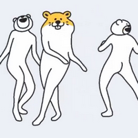 Betakkuma熊�^人舞表情包