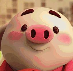 猪小屁图片gif素材表情包v图片表情空白图片