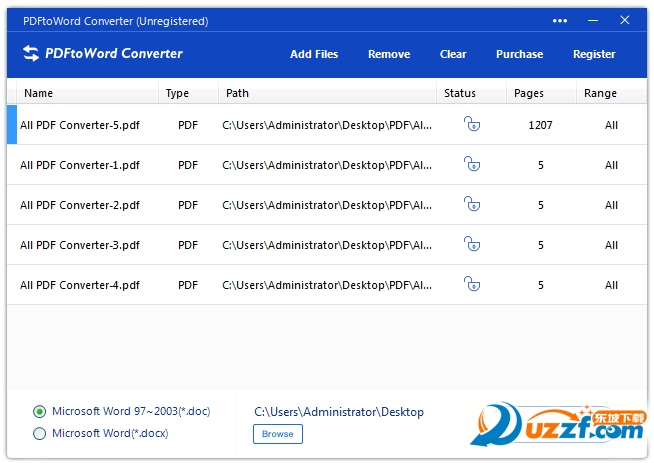 全能PDF转WORD风云转换器截图0