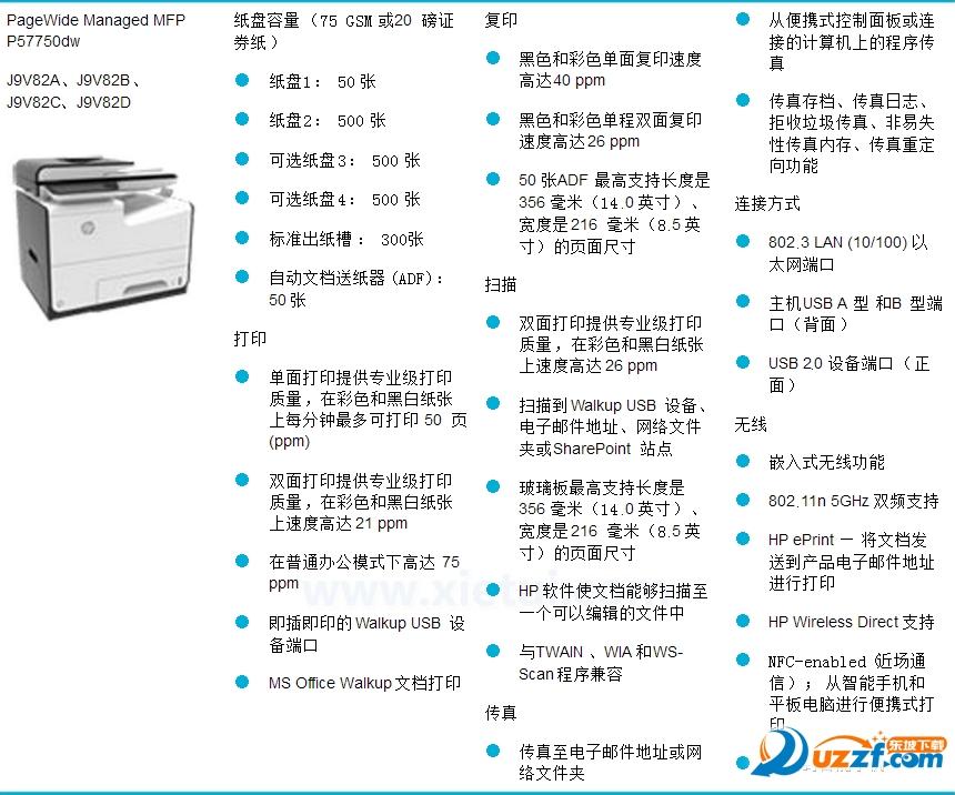 惠普HP PageWide Managed Pro 577m 驱动程序截图1