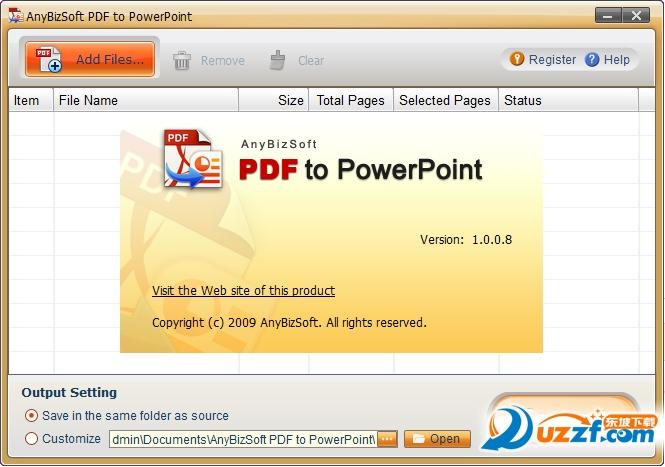 PDF to PowerPoint Converter (PDF转换PPT工具)截图0