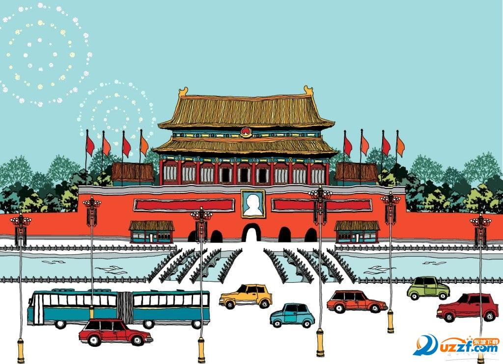 教育素材 素材下载 → 小学生国庆节画画图片大全 无水印版  小学生