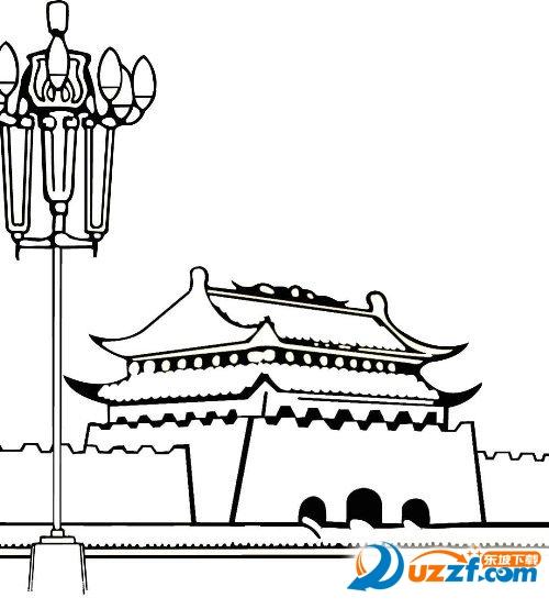 中秋国庆简笔画不带字图片大全高清免费版