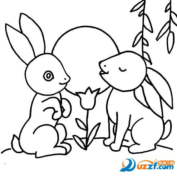 教育素材 素材下载 → 中秋国庆简笔画不带字图片大全 高清免费版