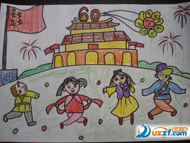 庆国庆儿童画画图片大全高清无水印