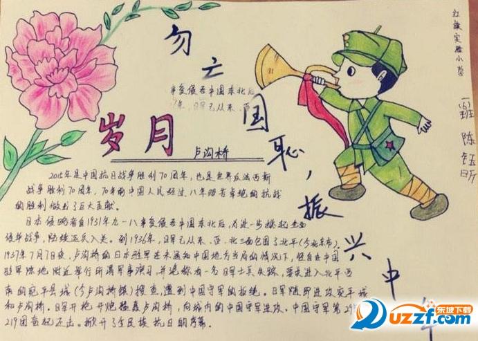 纪念抗战胜利72周年手抄报图片高清免费版