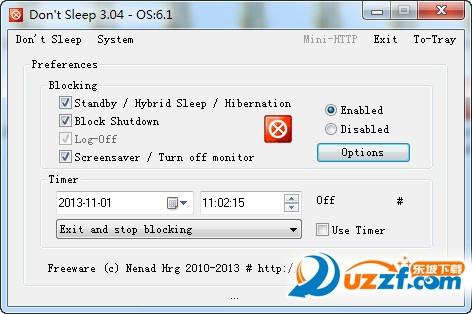 系统防关机软件(Dont Sleep)截图0