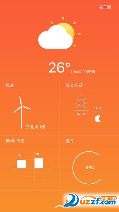 派派天气app截图