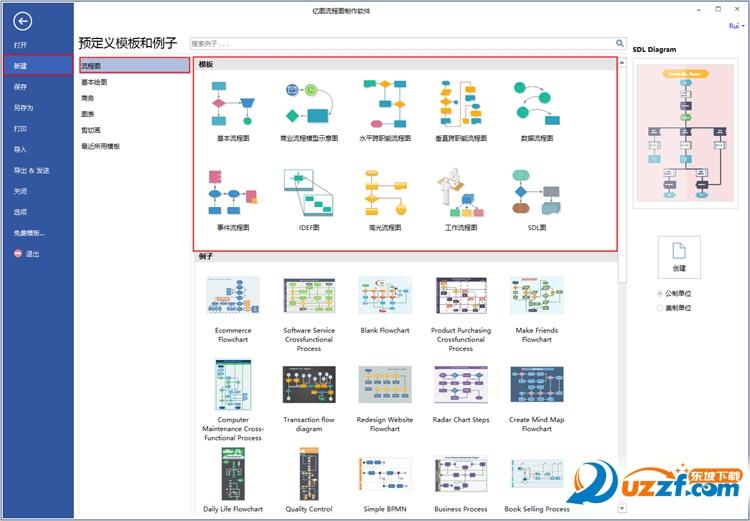 亿图流程图制作软件截图0