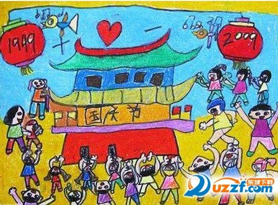 小学生国庆节画画图片大全无水印版