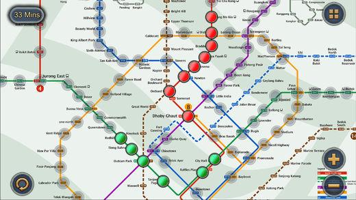 新加坡地铁地图导航中文版截图
