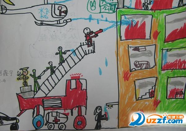 小学消防安全绘画图片