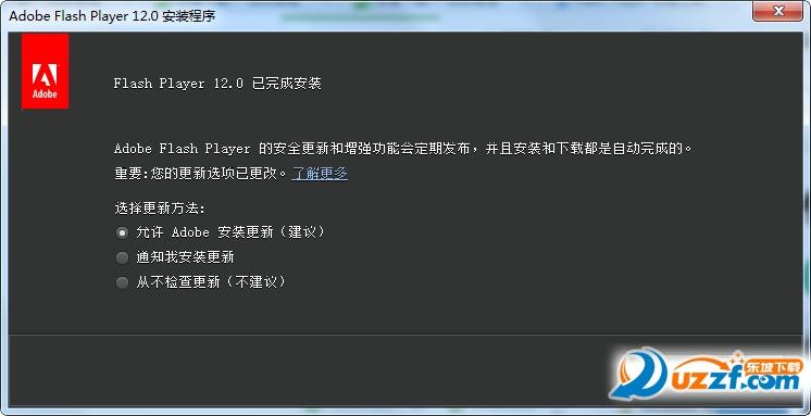 Adobe Flash Player 12官方版截图1