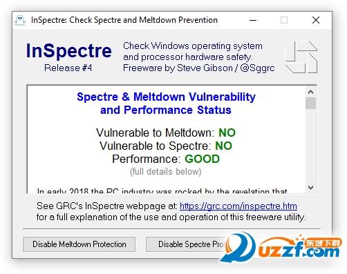 InSpectre(CPU漏洞检测工具)截图1