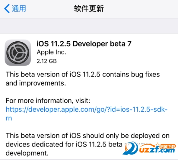 ios11.2.5beta7固件及描述文件截图0
