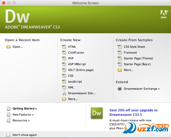 Adobe Dreamweaver CS3 Mac版截图0