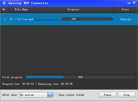Amazing MXF Converter(MXF视频转换器)截图0