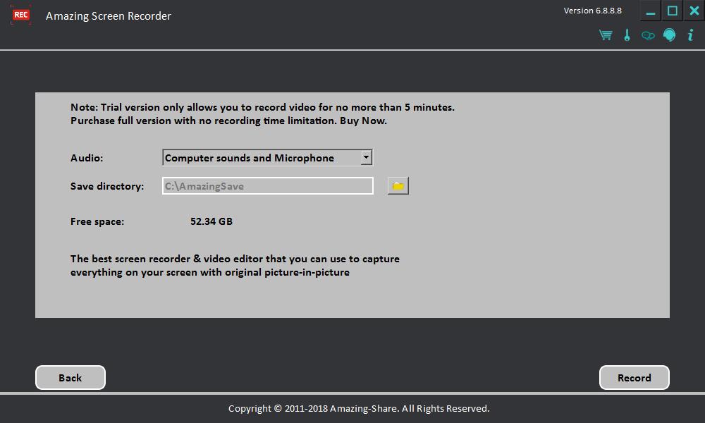 惊人屏幕录像机(Amazing Screen Recorder)截图1