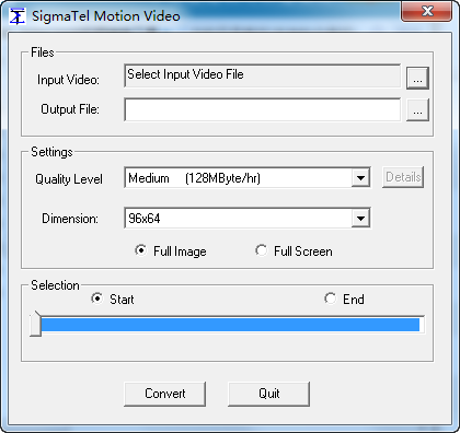 JWM-2005视频转换工具(SigmaTel Motion Video)
