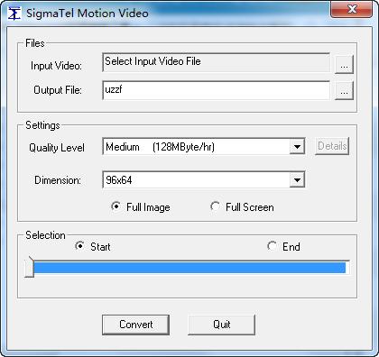 JWM-2005视频转换工具(SigmaTel Motion Video)截图1