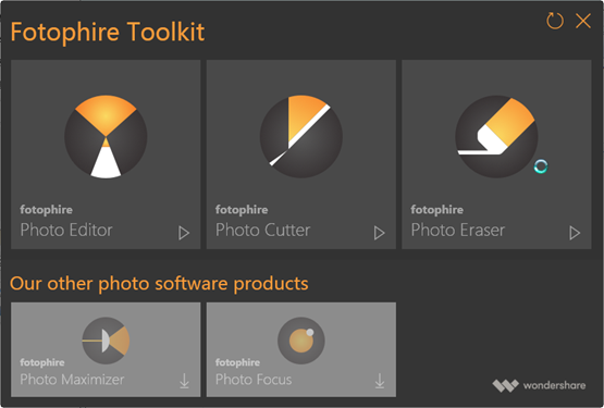 Wondershare Fotophire Toolkit截图0