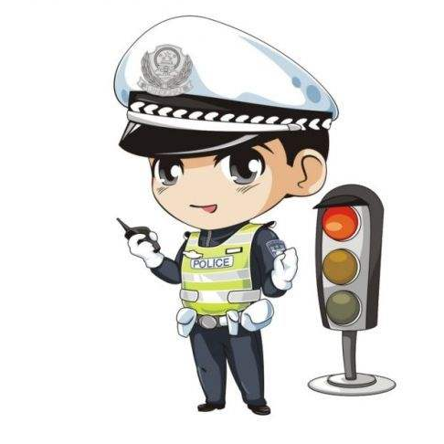 交通安全带线稿电子小报for a3/a4 word格式