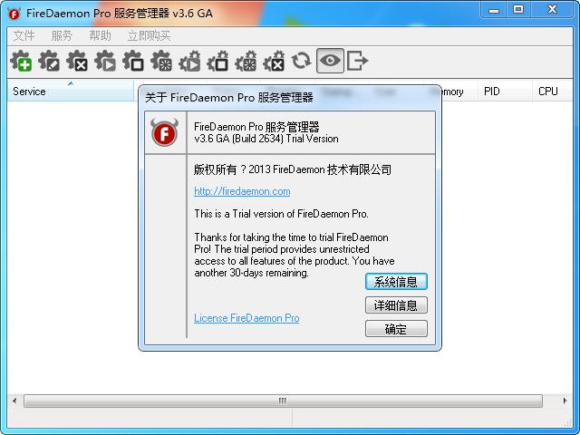 FireDaemon Pro 服务管理器截图0