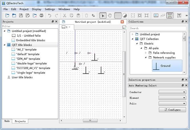 电气原理图设计软件(QElectroTech)截图0