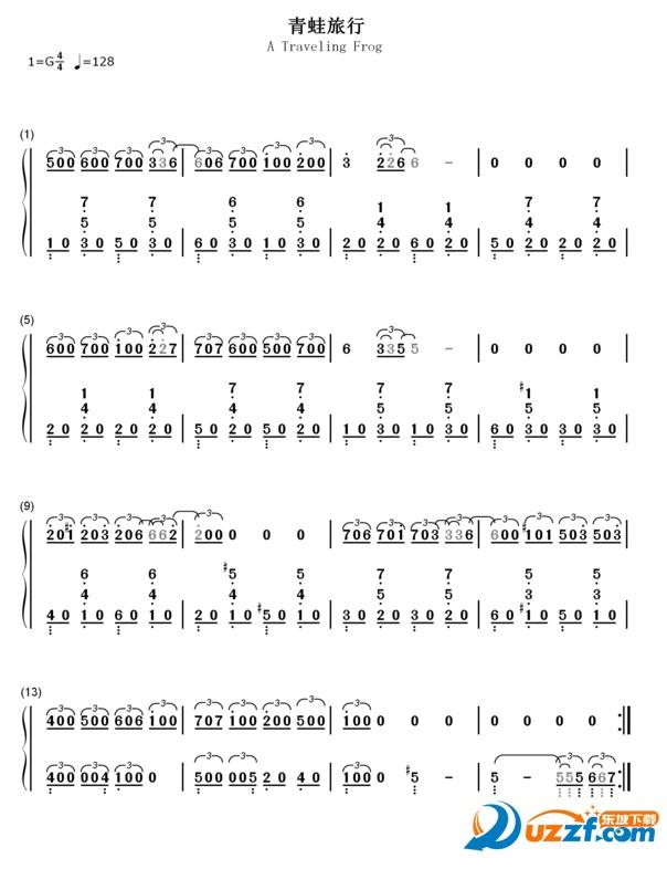 高清打包版【五线谱+简谱】  怎样用手机弹奏 先下载一个弹琴吧app