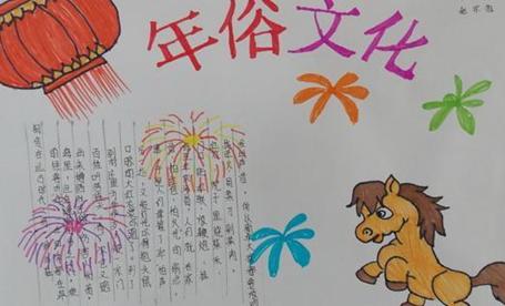 狗年春节年俗文化手抄报图片小学生版