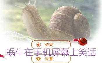 蜗牛在手机屏幕上笑话