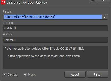 universal adobe patcher 2017截图0