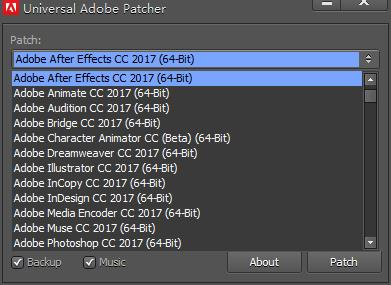 universal adobe patcher 2017截图1