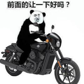 熊猫头骑车表情包图片大全精选无水印版