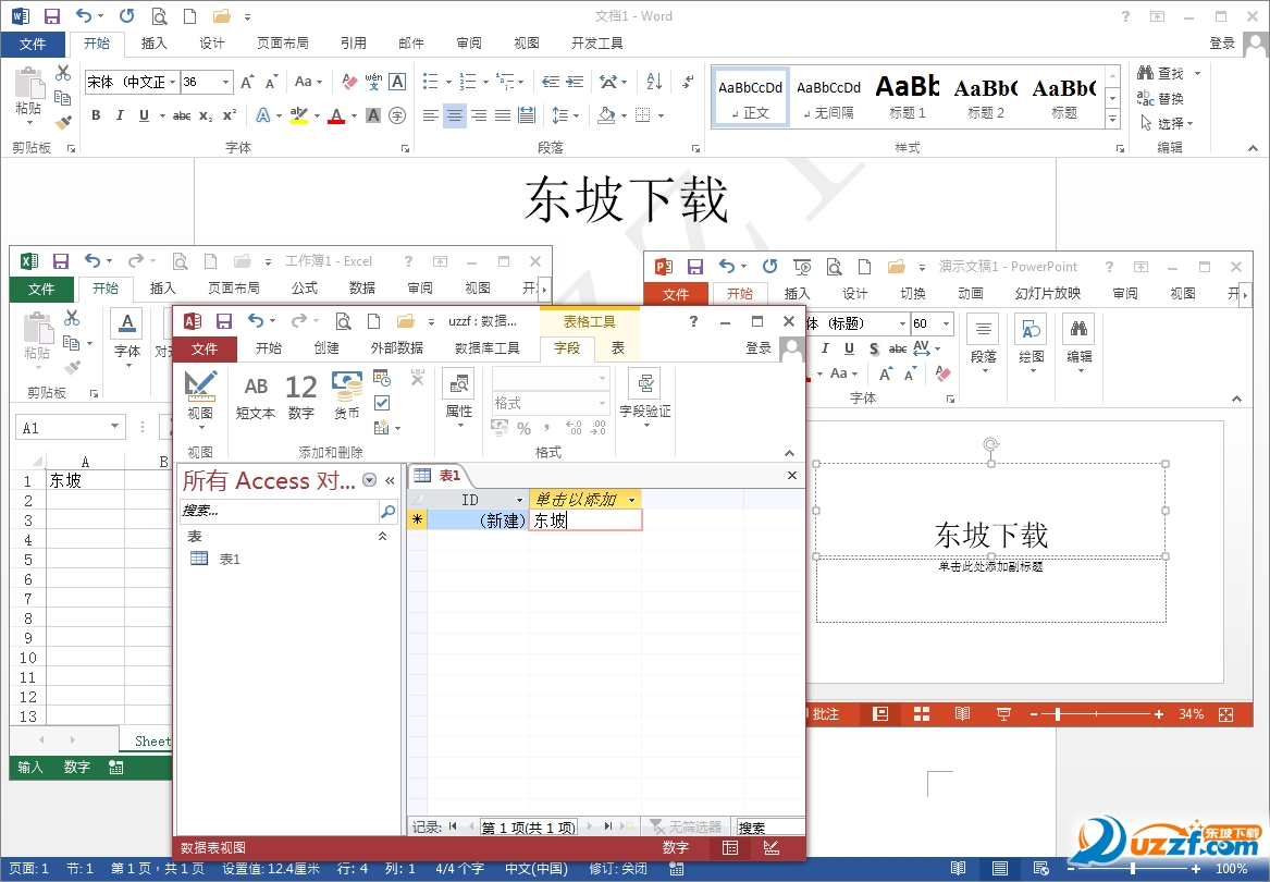 Office2013四合一绿色精简版截图0