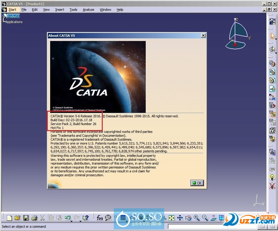 DS CATIA(64位)V5-6R2016 SP2 HF001截图0