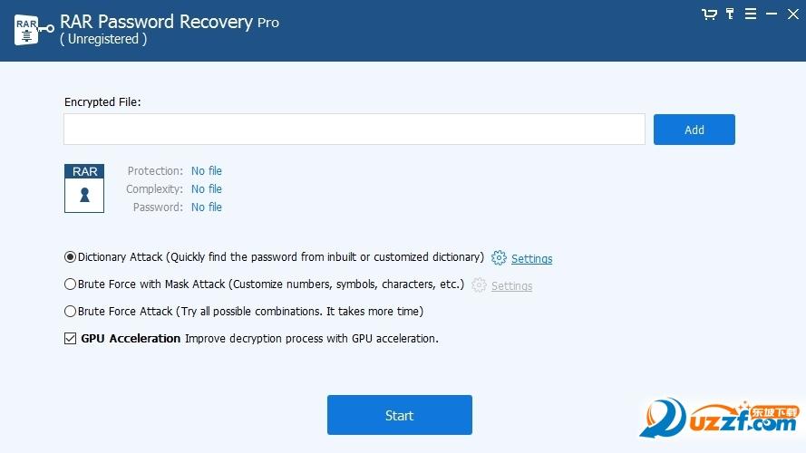 RAR Password Recovery Pro中文注册版截图0
