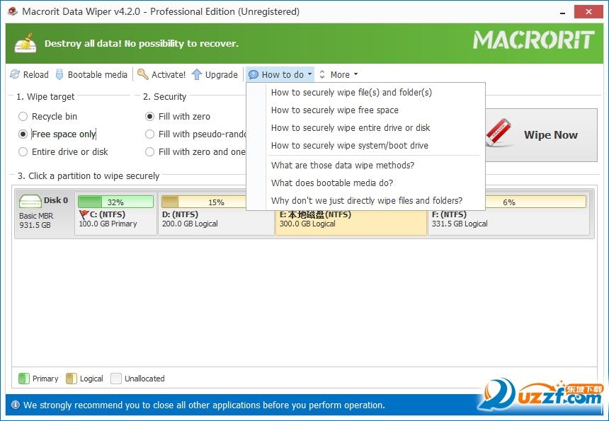 电脑数据擦除(Macrorit Data Wiper)截图0